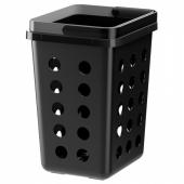 ВАРЬЕРА Вентилируемый контейнер д/мусора, черный, 11 л