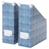 ФЬЕЛЛА Подставка для журналов, белый, синий