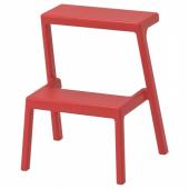 МЭСТЕРБИ Табурет-лестница, коричнево-красный