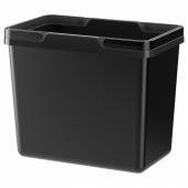 ВАРЬЕРА Контейнер д/сортировки мусора, черный, 22 л