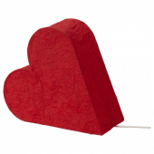 СТРОЛА Украшение для стола, сердце, красный, 30 см