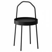 БУРВИК Придиванный столик, черный, 38 см
