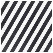 ПИПИГ Салфетка под приборы, в полоску, черный/белый, 37x37 см