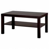 ЛАКК Журнальный стол,черно-коричневый